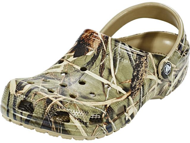 Crocs Classic Realtree Clogs Unisex Khaki